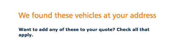 add vehicles progressive insurance quote