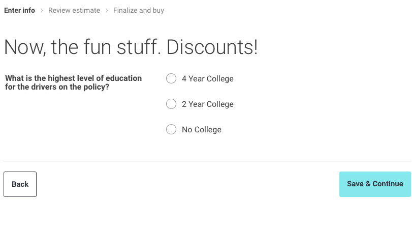 discounts page liberty mutual quote