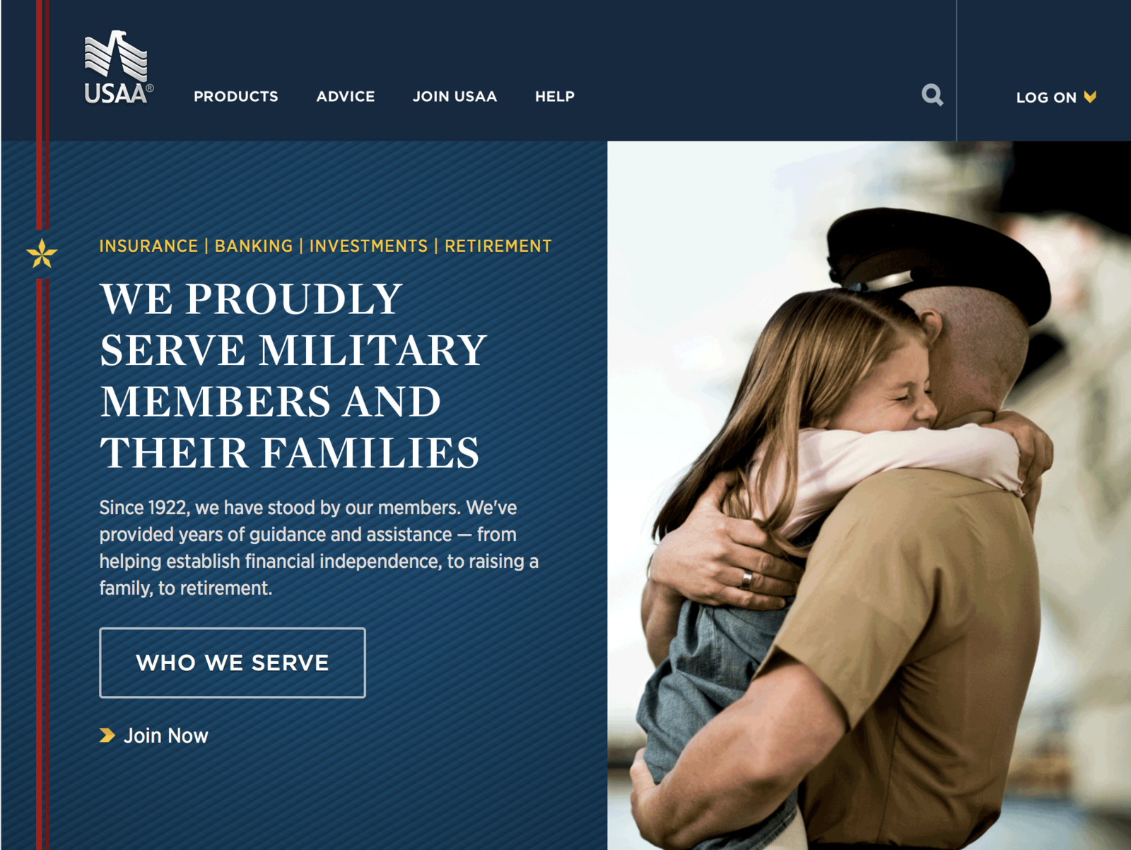 USAA Insurance  Front Page
