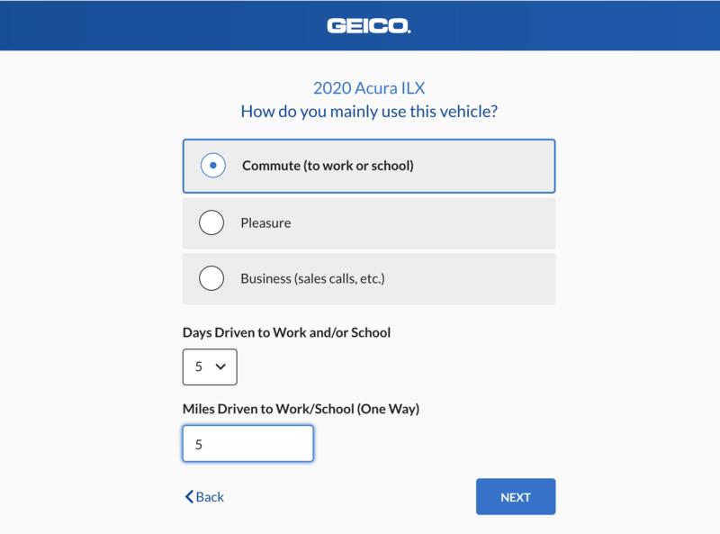 Geico steps - usage